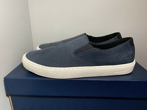 NEW Men's Cole Haan Grandpro Deck Slip On Sneakers Size 13 Navy Blue C30772 NWOB