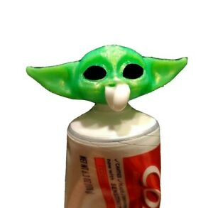 Baby Yoda Toothpaste Vomit Dispenser Topper *3D Printed*-Fits Most Major Brands!