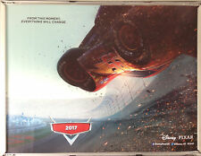Cinema Poster: CARS 3 2017 (Racetrack Quad) Owen Wilson Cristela Alonzo