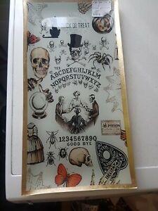 New TK Maxx Halloween Ouija Board Trick Or Treat Glass Decorative Tray FREE POST