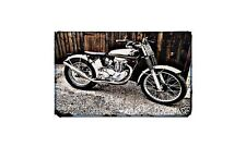 Ajs Matchless 400 Motorbike A4 photo Retro Bike