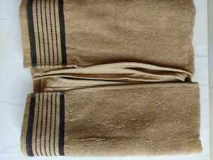 100% Cotton Fabric Bath Towel Full Big Size 30 x 60 Plain Self Design at Border