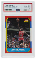Michael Jordan 1986 Fleer #57 Chicago Bulls Rookie Card NM-MT PSA 8  351
