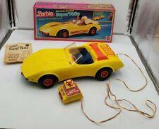 Barbie Remote Control Chevy Corvette Super Vette 1979 Mattel #1291 Yellow