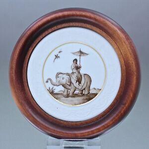 Meissen: Plakette mit Höroldt Chinesen, Codex Schulz Rahmen Bild plaque Medaille