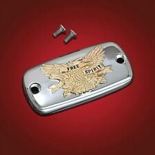 Free Spirit Master Cylinder Cover with Gold Eagle for Yamaha Road Star (2-447G)