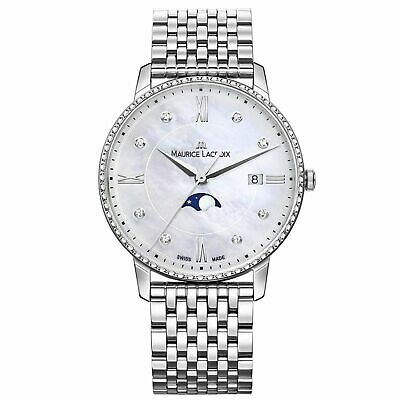 Maurice Lacroix EL1096-SD502-170-1 Women's Eliros Moonphase White Mother of