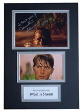 Martin Sheen Signed Autograph A4 photo display Apocalypse Now Film AFTAL COA