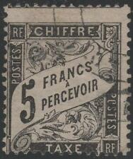 "FRANCE STAMP TIMBRE TAXE N° 24 "" TYPE DUVAL 5F NOIR "" OBLITERE A VOIR J952"