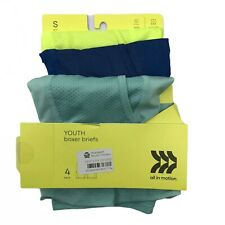 (3) New All In Motion Boxer Briefs Boys Youth Size 6-7 Small Pack Stretch Mesh
