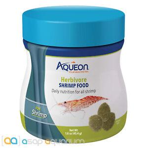 Aqueon Herbivore Shrimp Food 1.5oz Jar Freshwater Shrimp Food Daily Nutrition