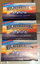 ELEMENTS SINGLE WIDE ROLLING PAPERS 3 PACKS (100 PAPERS PER PACK) 300 TOTAL
