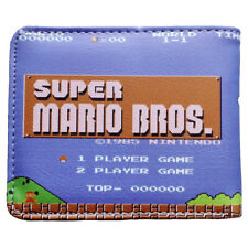 Super Mario Bros Brothers Gamer Gaming Geek Leather Slim Wallet Card Holder Gift
