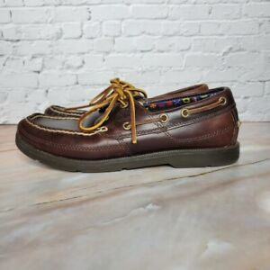 Timberland Earthkeepers KiaWah Bay Boat Shoes Leather 5230R Mens Size 7 Brown