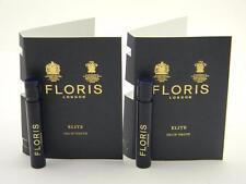 2 X FLORIS Elite Eau de Toilette Vial Sample Spray 1.2ml / 0.04oz