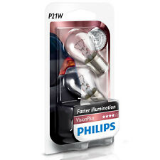 Philips Vision Plus P21W Stop/Tail Light Car Bulbs (Twin Pack Of Bulbs)