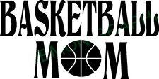 Basketball Mom vinyl decal/sticker car truck window saying sports hoop