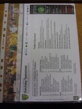 23/02/2014 Colour Teamsheet: Norwich City v Tottenham Hotspur. If this item has