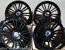 "17"" BLACK SAVAGE ALLOY WHEELS FITS 5X100 AUDI VW SEAT SKODA TOYOTA VOLKSWAGEN"