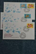 1996 A Plea for Peace FDC Set - Vienna Vienna Singles and Combo
