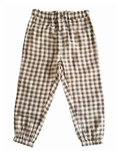 Happyology Brown Check Pontil Trousers