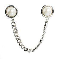 Frauen  's Wunder schoenen Faux Perlen Quaste Kette Kragen Brosche Spitze