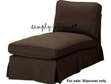IKEA EKTORP Cover for free-standing EKTORP chaise lounge slipcover Svanby Brown