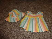 BABY GAP 0-6 3-6 RAINBOW SHIRT TOP HAT SET