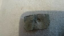 Rare Roman Lead artifact with markings nice little piece of Country Durham H L8z