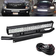 "FIT Dodge Ram Subaru 20"" 126W LED Light Universal Bull Bar License Plate Bracket"