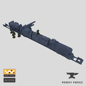 Industrial Train - Warhammer 40k Terrain, Necromunda Terrain, Kill Team Terrain