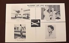 INSTALLMENT SET 4 POSTCARDS by Roy Votaw - Last Powder Duff Women Air Race Derby