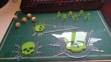 Warhammer 40K 40000 Blast Templates, Dices, Tactical Bundle Death Guard Krops