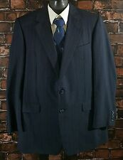 Hickey Freeman Collection Navy Blue Stripe 2Btn WOOL Blazer Sportcoat (44L) USA