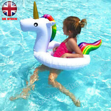 Inflatable Unicorn Swim Ring Infant Float Raft Seat Swimming Pool for Kids Baby