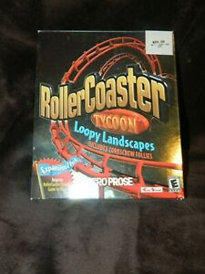 RollerCoaster Tycoon: Loopy Landscapes Corkscrew Follies (PC, 2000) BIG BOX