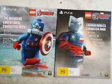 PS4 Lego Marvel Avengers Thunderbolts & Adventurer Character Packs DLC ONLY
