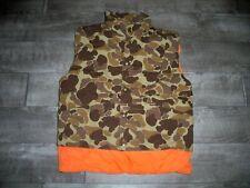 Vintage Gamehide Camo Waterproof Coated Hunting Men's Puffer Vest Jacket Small