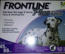 New Genuine Merial Frontline Plus For Large Dogs 45 - 88 lbs 3 Vials 3Months