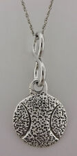 "VINTAGE .925 Sterling Silver ""BASQUETBALL"" PENDANT NECKLACE * 7.58 GRAMS"