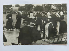 Twentse Boerenbruiloft NL Vintage B&W Postcard 1958 Dutch National Dress & dance