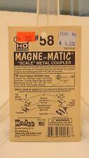 Kadee HO #58 Magne-Matic Scale Metal Couplers (4) NEW