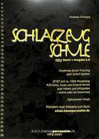 """Schlagzeugschule - Band 1 - Ausgabe 2.0 + 1 Bleistift """"Musikmotiv"""""""