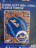 New York Mets SGA Fleece Throw Blanket 45 x 60 Super Soft Cozy 9/18/19