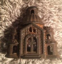 1899-1934 VINTAGE / ANTIQUE A.C. WILLIAMS SMALL DOMED MOSQUE CAST IRON BANK !