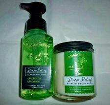 Bath & Body Works EUCALYPTUS SPEARMINT FOAMING HAND SOAP + 7 oz.CANDLE- BOTH BN