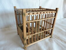 German Vintage Wood Bird Cage for Shipping Transport