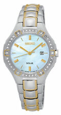 Seiko Women's Two-Tone Mother of Pearl Dial Watch SUT282