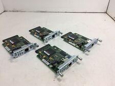 Lot of 4 Cisco WIC-1DSU-T1 1-Port T1 DSU/CSU Module,