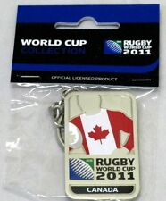 33651 RUGBY WORLD CUP 2011 CANADA SILVER JERSEY FLAG KEYRING KEY RING